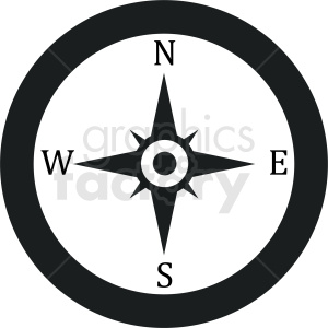 compass vector icon design clipart. Royalty-free image # 412083