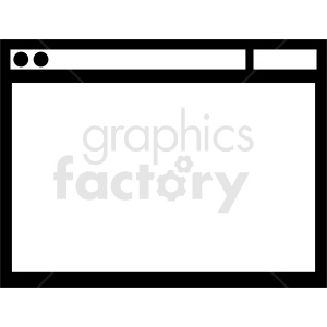 browser window flat vector clipart. Commercial use image # 412105