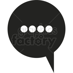 chat bubble vector clipart clipart. Royalty-free image # 412107