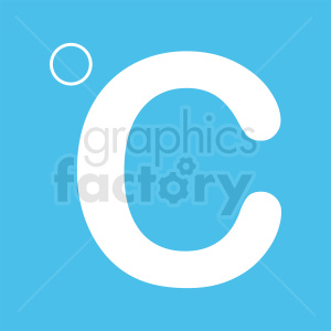celsius symbol vector icon clipart. Royalty-free image # 412123