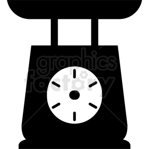 vegetable scale vector clipart. Commercial use image # 412129