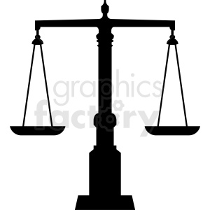 scales of justice vector graphic clipart. Commercial use image # 412142