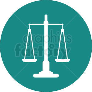 scale of justice vector clipart aqua icon clipart. Commercial use image # 412152