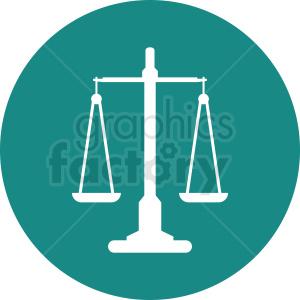 scale of justice vector clipart aqua icon