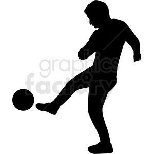 soccer player silhouette vector clipart