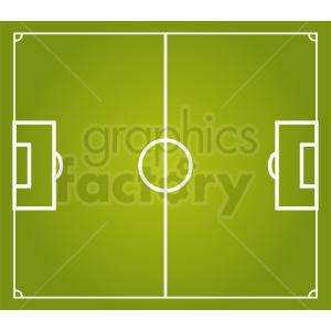 soccer game field vector clipart. Royalty-free image # 412164