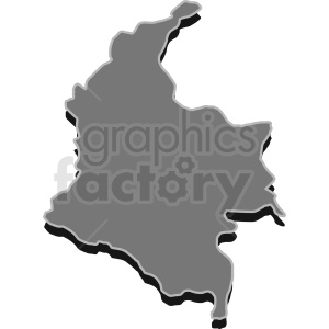 Columbia gray vector design clipart. Commercial use image # 412208