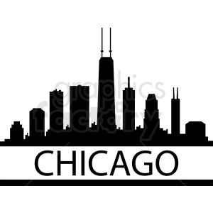 Chicago city skyline vector clipart. Commercial use image # 412214