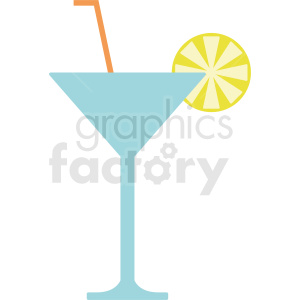 cartoon martini glass vector clipart. Commercial use image # 412239