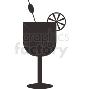 cocktail drink silhouette clipart. Royalty-free image # 412247