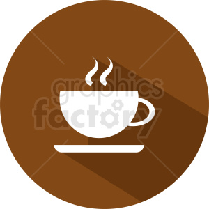 coffee cup vector clipart on circle background clipart. Commercial use image # 412262
