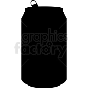 soda can vector silhouette clipart. Royalty-free image # 412273