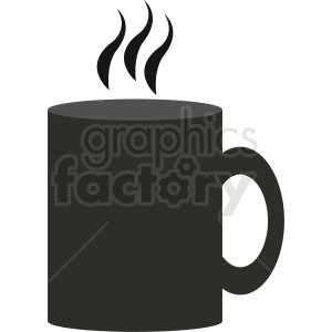 hot coffee cup design clipart. Royalty-free image # 412287