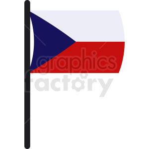 Czech Republic flag art clipart. Commercial use image # 412313