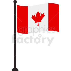 waving Canada flag clipart clipart. Commercial use image # 412334