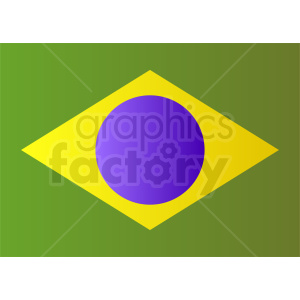 brazil flag design clipart. Royalty-free image # 412340