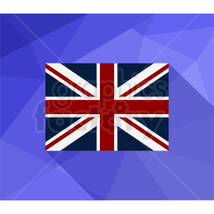 Great Britain flag on blue background clipart. Commercial use image # 412347