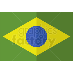 brazil flag icon vector clipart. Commercial use image # 412360