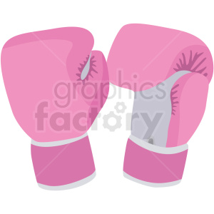pink boxing gloves vector clipart clipart. Royalty-free image # 412509
