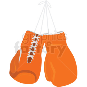 orange boxing gloves vector clipart clipart. Royalty-free image # 412513