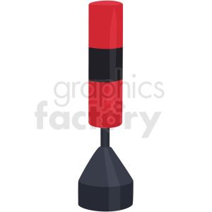 standing boxing bag vector clipart clipart. Commercial use image # 412515