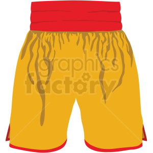red and yellow boxing shorts vector clipart clipart. Commercial use image # 412521