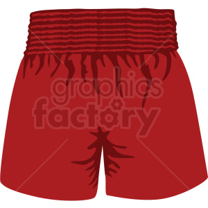 red boxing shorts vector clipart clipart. Royalty-free image # 412522