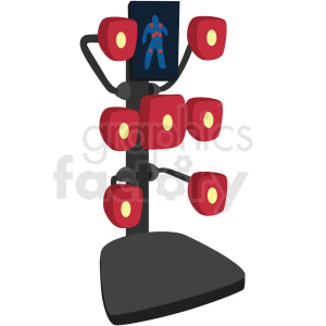 mma training focus punching bag vector clipart clipart. Royalty-free image # 412529