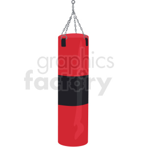 boxing heavy bag vector clipart clipart. Commercial use image # 412531