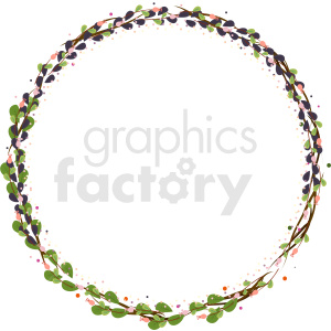 natural circle border vector clipart clipart. Commercial use image # 412628