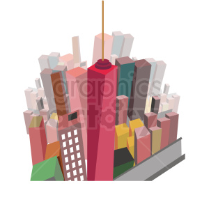 city aerial scene vector clipart clipart. Commercial use image # 412700