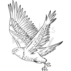 black and white eagle clipart. Commercial use image # 412713