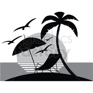 island silhouette vector clipart clipart. Royalty-free image # 412728