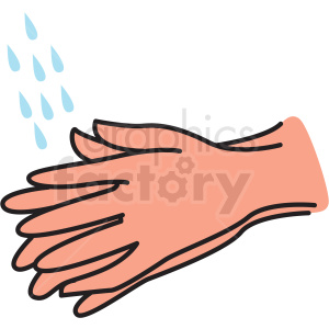 rinse hands vector clipart clipart. Commercial use image # 412754