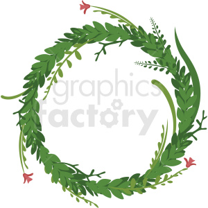 full floral wreath frame vector clipart clipart. Royalty-free image # 412777