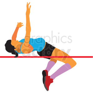 olympic high jumper vector clipart clipart. Royalty-free image # 412827