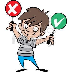 cartoon child crossing guard vector clipart. Royalty-free image # 412874