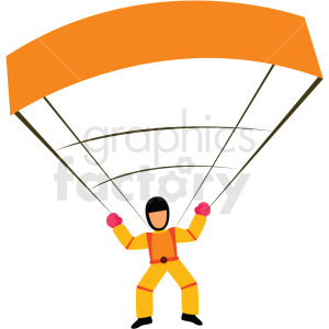 man parachuting vector clipart icon clipart. Commercial use image # 412952