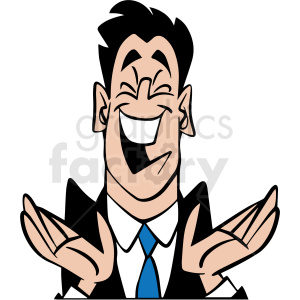 business man laughing vector clipart clipart. Commercial use image # 413069