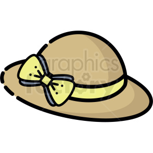summer hat vector clipart clipart. Royalty-free image # 413275