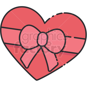 heart chocolate candy box vector clipart clipart. Commercial use image # 413284