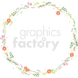 floral wreath border vector clipart clipart. Royalty-free image # 413285