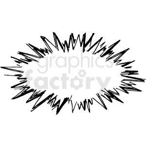 black and white bubble burst vector clipart clipart. Royalty-free image # 413293