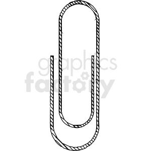 black and white paper clip vector clipart clipart. Commercial use image # 413295