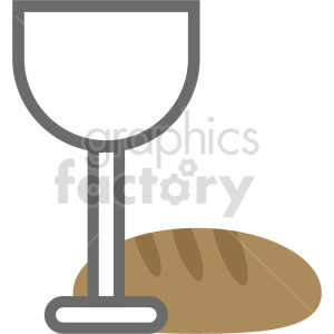 glass with bread vector icon clipart. Commercial use image # 413412