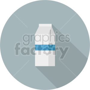 milk carton on gray circle background vector