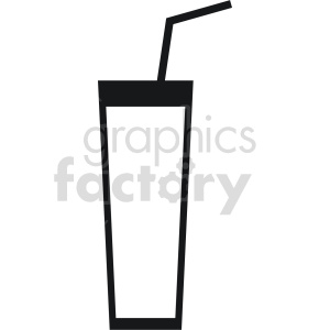 glass with straw vector icon clipart. Commercial use image # 413433