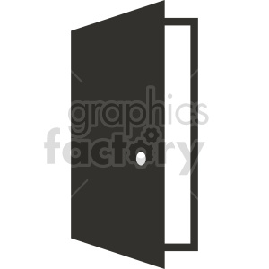 open door vector clipart 1 clipart. Commercial use image # 413452