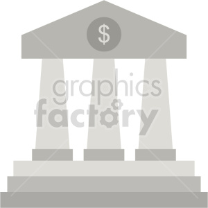 bank pillars vector clipart icon