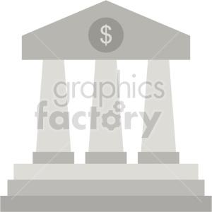 bank pillars vector clipart icon